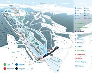 Gol Skipark_bakkekart