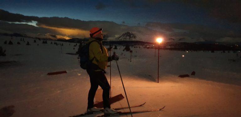 Skitur i fakkellys på Golsfjellet