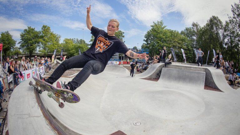 Skatekurs, show og konkurranse med Skatelandslaget